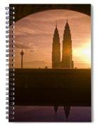 Kuala Lumpura Capital City Twin Towers Spiral Notebook