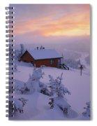 La Chouette Cabin At Twilight, Gaspesie Spiral Notebook