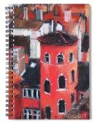 La Tour Rose In Lyon 1 Spiral Notebook
