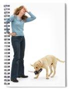 Labrador Golden Retriever Pup Chewing Spiral Notebook