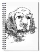 Labrador-portrait-drawing Spiral Notebook