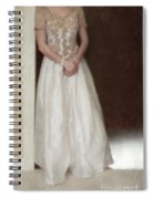 Lacy In Ecru Lace Gown Spiral Notebook