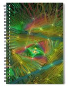 Lacy Rainbow Triangle Spiral Notebook