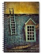 Ladder On Roof Spiral Notebook