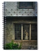 Lady By Window Of Tudor Mansion Spiral Notebook
