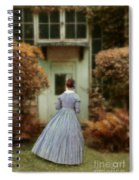 Lady In 19th Century Clothing By Conservatory Spiral Notebook