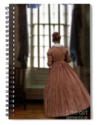 Lady In 19th Century Clothing Looking Out Window Spiral Notebook