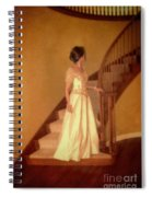 Lady In Lace Gown On Staircase Spiral Notebook