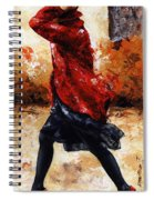 Lady In Red 28 Spiral Notebook
