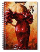 Lady In Red 33 Spiral Notebook