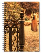 Lady In Renaissance Dress By Open Gate Spiral Notebook