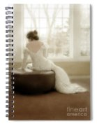 Lady In Sequin Gown Spiral Notebook