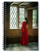 Lady In Tudor Gown Looking Out A Window Spiral Notebook