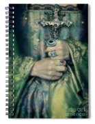 Lady In Tudor Gown With Crucifix Spiral Notebook