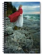 Lady In Vintage Clothing By The Sea Spiral Notebook