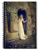 Lady In White Gown In Doorway Spiral Notebook