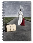 Lady On The Road Spiral Notebook