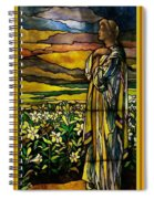 Lady Stained Glass Window Spiral Notebook