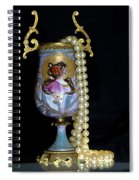 Lady Vase And Pearls Spiral Notebook