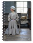 Lady Waiting In Train Depot Spiral Notebook