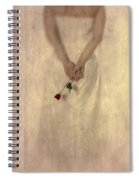Lady With A Rose Spiral Notebook