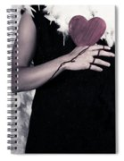 Lady With Blood And Heart Spiral Notebook