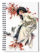 Lady With Dog Spiral Notebook