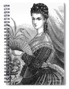 Lady With Fan, C1878 Spiral Notebook