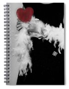 Lady With Heart Spiral Notebook