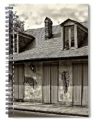 Lafittes Blacksmith Shop Bar In Sepia Spiral Notebook