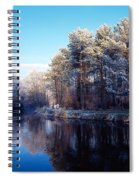 Lagan Meadows During Winter, Belfast Spiral Notebook