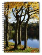 Lake And Trees, Mount Stewart, Co Down Spiral Notebook