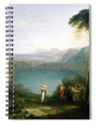 Lake Avernus - Aeneas And The Cumaean Sibyl Spiral Notebook