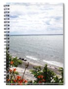 Lake Erie Beach At Sturgeon Point Spiral Notebook