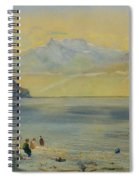 Lake Leman With The Dents Du Midi In The Distance Spiral Notebook