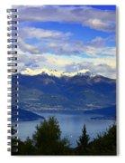 Lake Of Como View Spiral Notebook