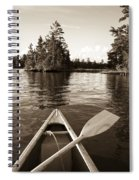 Lake Of The Woods, Ontario, Canada Boat Spiral Notebook