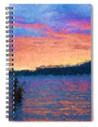 Lake Quinault Sunset - Impressionism Spiral Notebook