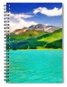 Lake Sils Spiral Notebook