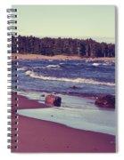Lake Superior Beach Waves  Spiral Notebook