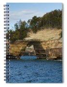Lake Superior Pictured Rocks 17 Spiral Notebook