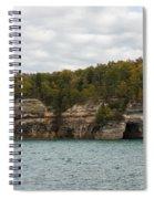 Lake Superior Pictured Rocks 45 Spiral Notebook