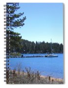 Lake Tahoe Dock Spiral Notebook