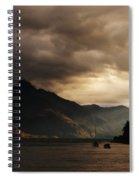 Lake Wakatipu At Sunset Spiral Notebook