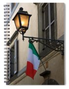 Lamp And Flag Spiral Notebook