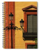 Lamp And Window In Sevilla Spain Spiral Notebook