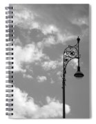 Lampost And Clouds In Wroclaw Poland Spiral Notebook