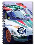 Lancia Stratos Alitalia Rally Catalonya Costa Brava 2008 Spiral Notebook