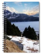 Land With A View Painterly Spiral Notebook