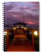 Landing Lights Spiral Notebook